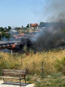 Importante incendio en Parque Coimbra, muy cerca de Alcorcón