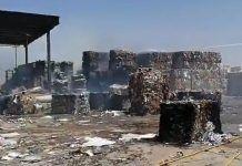 Se incendia la papelera Solís en Alcorcón