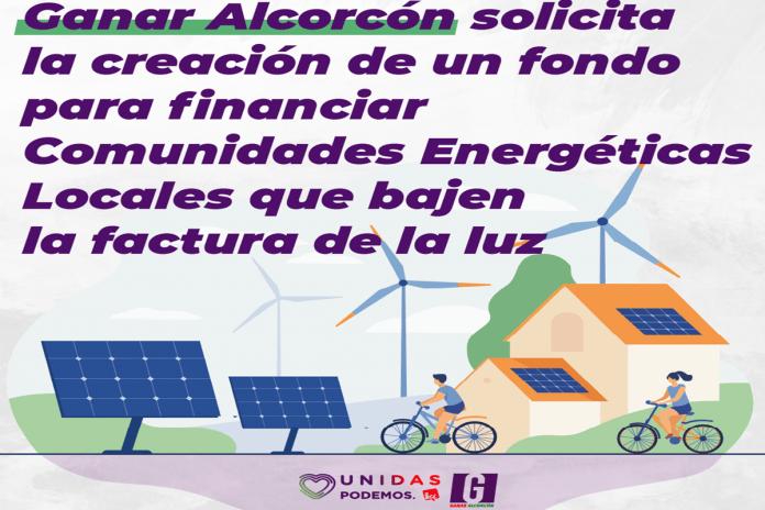 El partido del Municipio propone soluciones para bajar el precio de la luz. Ganar Alcorcón propone soluciones para reducir el precio de la factura de la luz