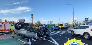 Brutal accidente en Alcorcón de un conductor que quintuplicaba la tasa de alcohol