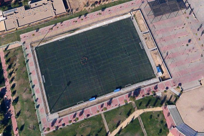 Sustitución del césped artificial en los campos de fútbol de Alcorcón