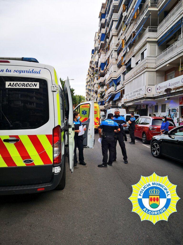 Varios accidentes en Alcorcón