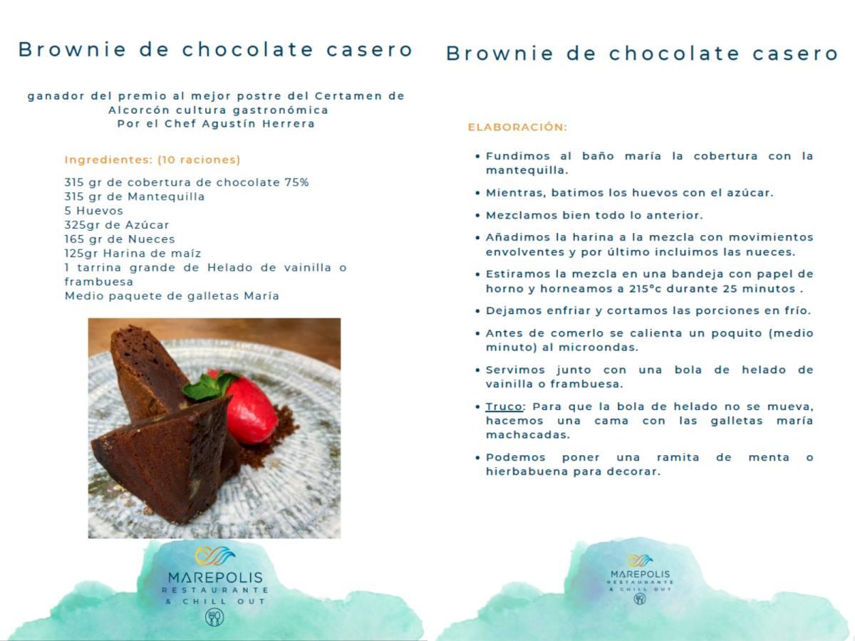 Receta del Brownie de Marepolis