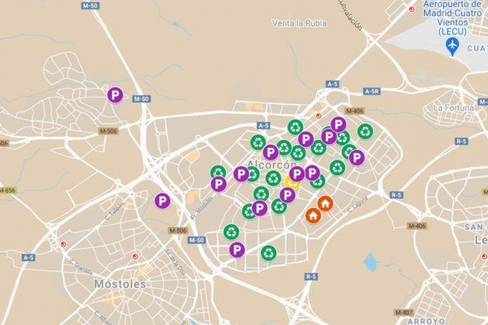 Consulta dónde están todos los puntos limpios que hay en Alcorcón