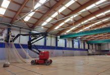 Obras de mantenimiento en los polideportivos de Alcorcón.