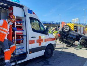 Impresionante accidente de tráfico en Alcorcón