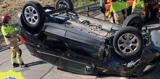 Impresionante accidente de tráfico hoy en Alcorcón
